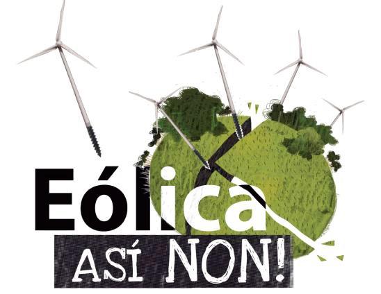 """Sábado 5 de xuño: Manifestación """"Eólica así non"""""""