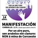 Domingo14 de Abril: Manifestación en Carballo contra a mina de Corcoesto