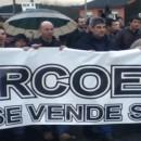 Galiza non se Vende contra da minaría e a mina de Corcoesto