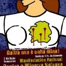 Galiza non vale nada? – Chamado á manifestación nacional contra a minaría salvaxe o vindeiro domingo en Compostela