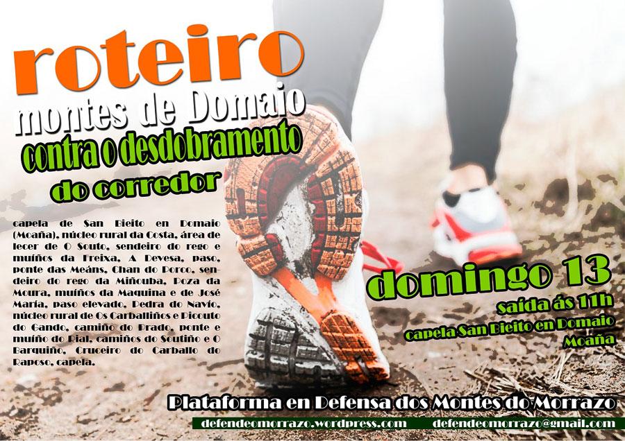 Domingo 13 de xullo: 3º Roteiro contra do desdobramento do corredor do Morrazo